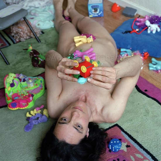nude woman in autistic pose