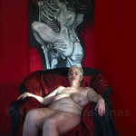 Naked woman on armchair