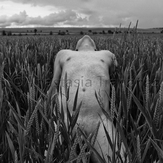 naked man in field