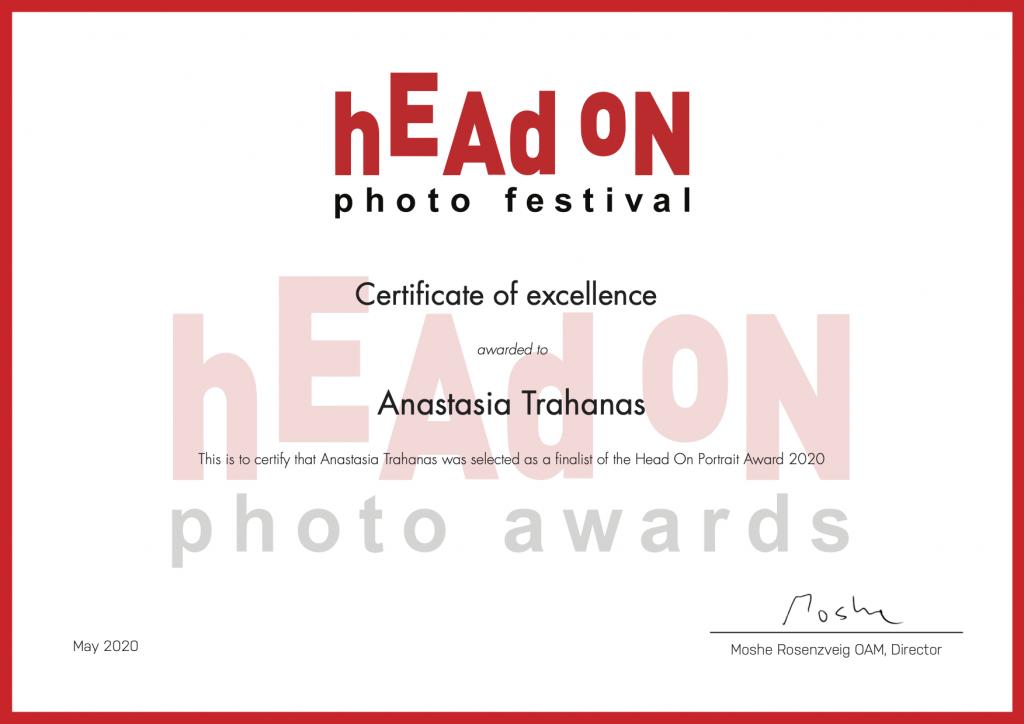 head on awards certificate